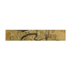 Birds Figure Old Brown Flano Scarf (mini) by Nexatart
