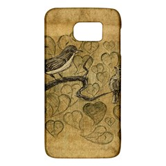 Birds Figure Old Brown Galaxy S6 by Nexatart