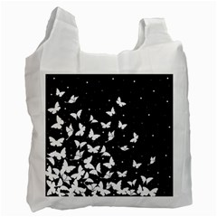Butterfly Pattern Recycle Bag (one Side) by Valentinaart