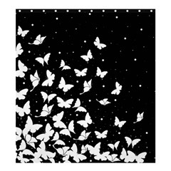 Butterfly Pattern Shower Curtain 66  X 72  (large)  by Valentinaart