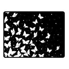 Butterfly Pattern Fleece Blanket (small) by Valentinaart