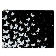 Butterfly Pattern Cosmetic Bag (xxl)  by Valentinaart