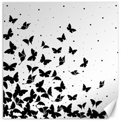 Butterfly Pattern Canvas 16  X 16   by Valentinaart