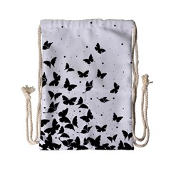 Butterfly Pattern Drawstring Bag (small) by Valentinaart