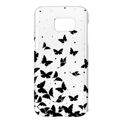 Butterfly Pattern Samsung Galaxy S7 Edge Hardshell Case by Valentinaart