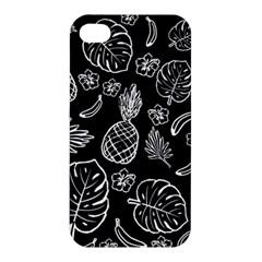 Tropical Pattern Apple Iphone 4/4s Premium Hardshell Case by Valentinaart