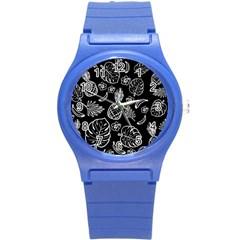Tropical Pattern Round Plastic Sport Watch (s) by Valentinaart