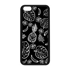 Tropical Pattern Apple Iphone 5c Seamless Case (black) by Valentinaart