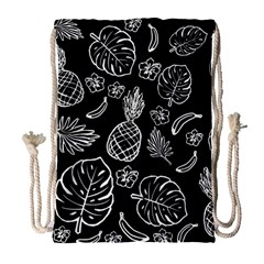Tropical Pattern Drawstring Bag (large) by Valentinaart