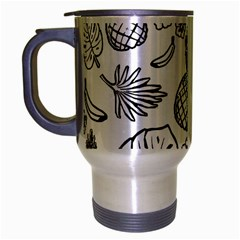 Tropical Pattern Travel Mug (silver Gray) by Valentinaart