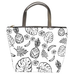 Tropical Pattern Bucket Bags by Valentinaart