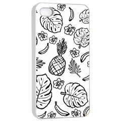 Tropical Pattern Apple Iphone 4/4s Seamless Case (white) by Valentinaart