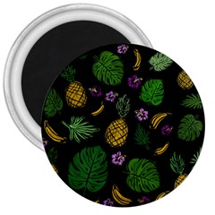 Tropical Pattern 3  Magnets by Valentinaart
