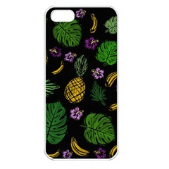 Tropical Pattern Apple Iphone 5 Seamless Case (white) by Valentinaart