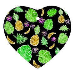 Tropical Pattern Ornament (heart) by Valentinaart