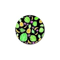 Tropical Pattern Golf Ball Marker (4 Pack) by Valentinaart