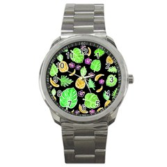Tropical Pattern Sport Metal Watch by Valentinaart