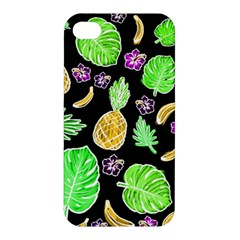 Tropical Pattern Apple Iphone 4/4s Premium Hardshell Case by Valentinaart