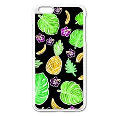 Tropical Pattern Apple Iphone 6 Plus/6s Plus Enamel White Case by Valentinaart
