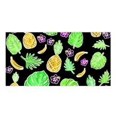 Tropical Pattern Satin Shawl by Valentinaart