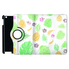 Tropical Pattern Apple Ipad 2 Flip 360 Case by Valentinaart