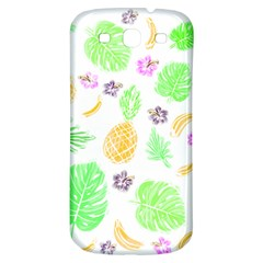 Tropical Pattern Samsung Galaxy S3 S Iii Classic Hardshell Back Case by Valentinaart