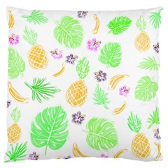 Tropical Pattern Large Flano Cushion Case (two Sides) by Valentinaart