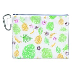 Tropical Pattern Canvas Cosmetic Bag (xxl) by Valentinaart