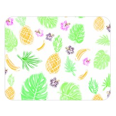 Tropical Pattern Double Sided Flano Blanket (large)  by Valentinaart