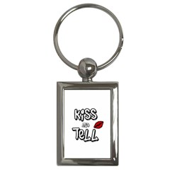 Kiss And Tell Key Chains (rectangle)  by Valentinaart