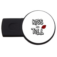 Kiss And Tell Usb Flash Drive Round (2 Gb) by Valentinaart
