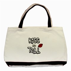 Kiss And Tell Basic Tote Bag by Valentinaart