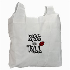 Kiss And Tell Recycle Bag (one Side) by Valentinaart