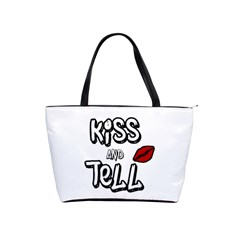 Kiss And Tell Shoulder Handbags by Valentinaart