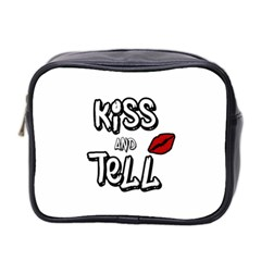 Kiss And Tell Mini Toiletries Bag 2 Side by Valentinaart