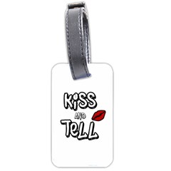 Kiss And Tell Luggage Tags (one Side)  by Valentinaart