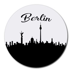 Berlin Round Mousepads by Valentinaart