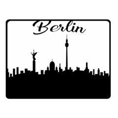 Berlin Fleece Blanket (small) by Valentinaart