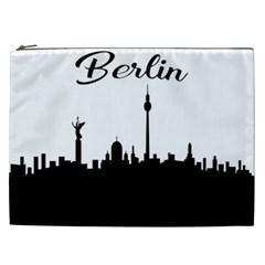 Berlin Cosmetic Bag (xxl)  by Valentinaart