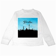 Berlin Kids Long Sleeve T Shirts by Valentinaart