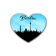 Berlin Rubber Coaster (heart)  by Valentinaart