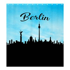 Berlin Shower Curtain 66  X 72  (large)  by Valentinaart