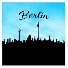 Berlin Large Satin Scarf (square) by Valentinaart