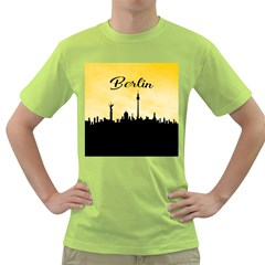 Berlin Green T Shirt by Valentinaart