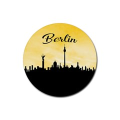Berlin Rubber Coaster (round)  by Valentinaart