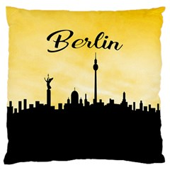 Berlin Large Flano Cushion Case (two Sides) by Valentinaart
