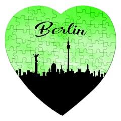 Berlin Jigsaw Puzzle (heart) by Valentinaart