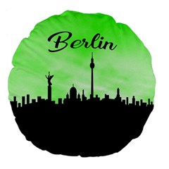 Berlin Large 18  Premium Flano Round Cushions by Valentinaart