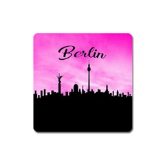 Berlin Square Magnet by Valentinaart