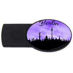 Berlin Usb Flash Drive Oval (4 Gb) by Valentinaart
